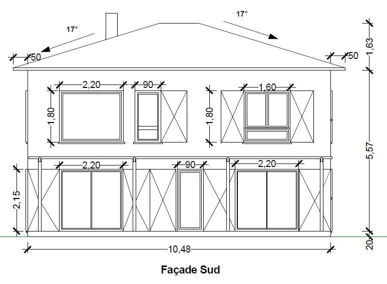 plan maison facade (avec images) | Plan maison, Dessiner ...