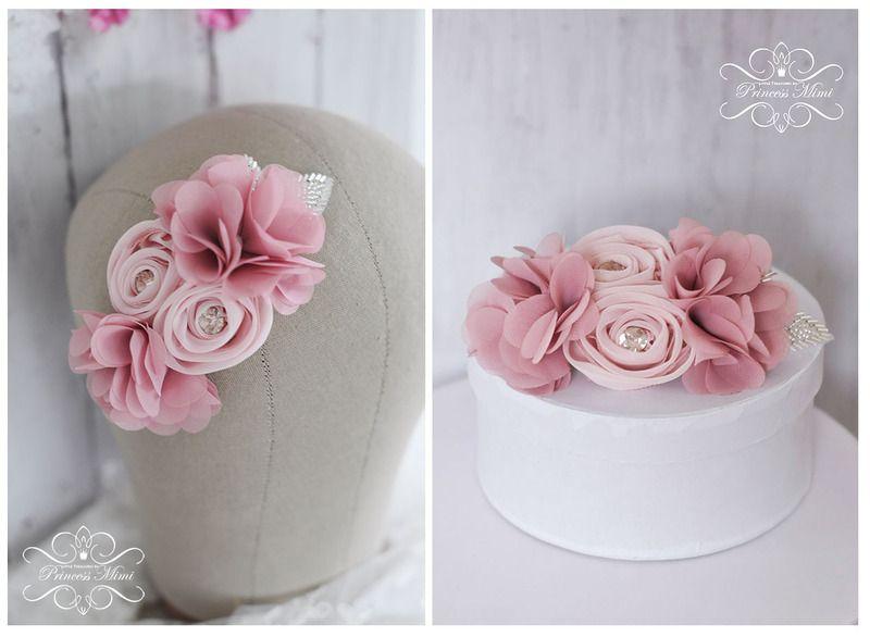 Braut+Haarschmuck+Altrosa+Blumen+Hochzeit+Schmuck+von+Princess+Mimi ...