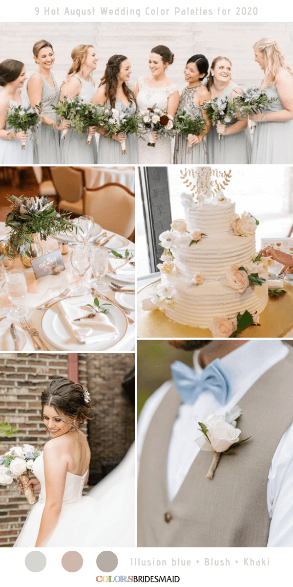 9 Hot August Wedding Color Palettes For 2020 In 2020 Wedding Color Palette Summer August Wedding Colors Summer Wedding Colors
