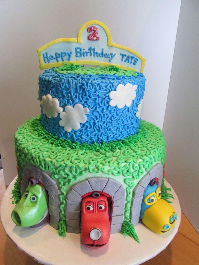 Train Cake Trains r ugly but I like the swirls Jaxons 2nd
