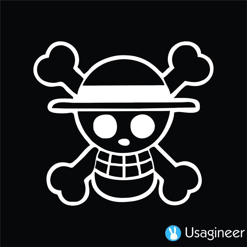One piece luffy pirate anime decal sticker