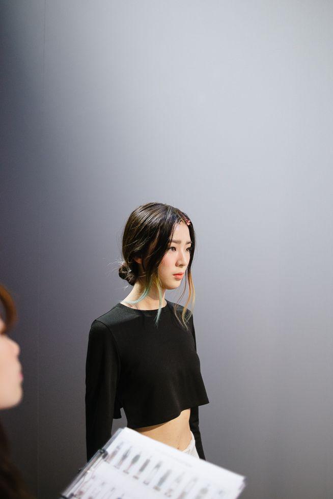 Irene Kim at KYE Spring 2015 Seoul Fashion Week shot by Alex Finch