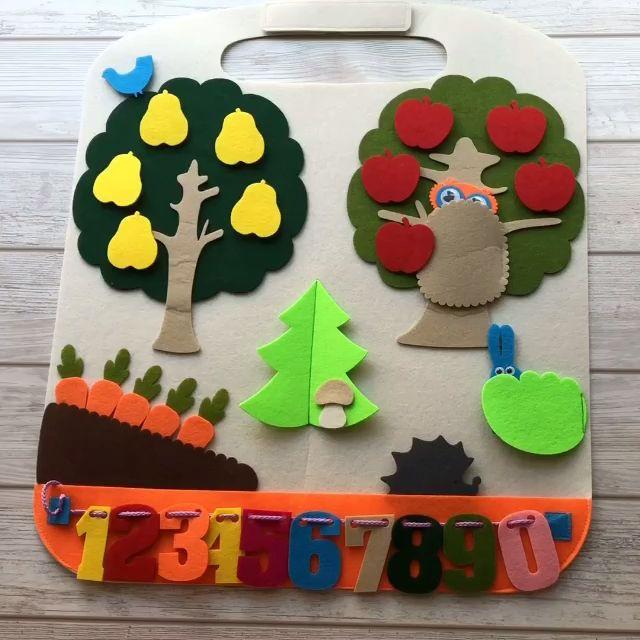 Activity Play Mat Forest, Reisespielzeug für Kleinkinder