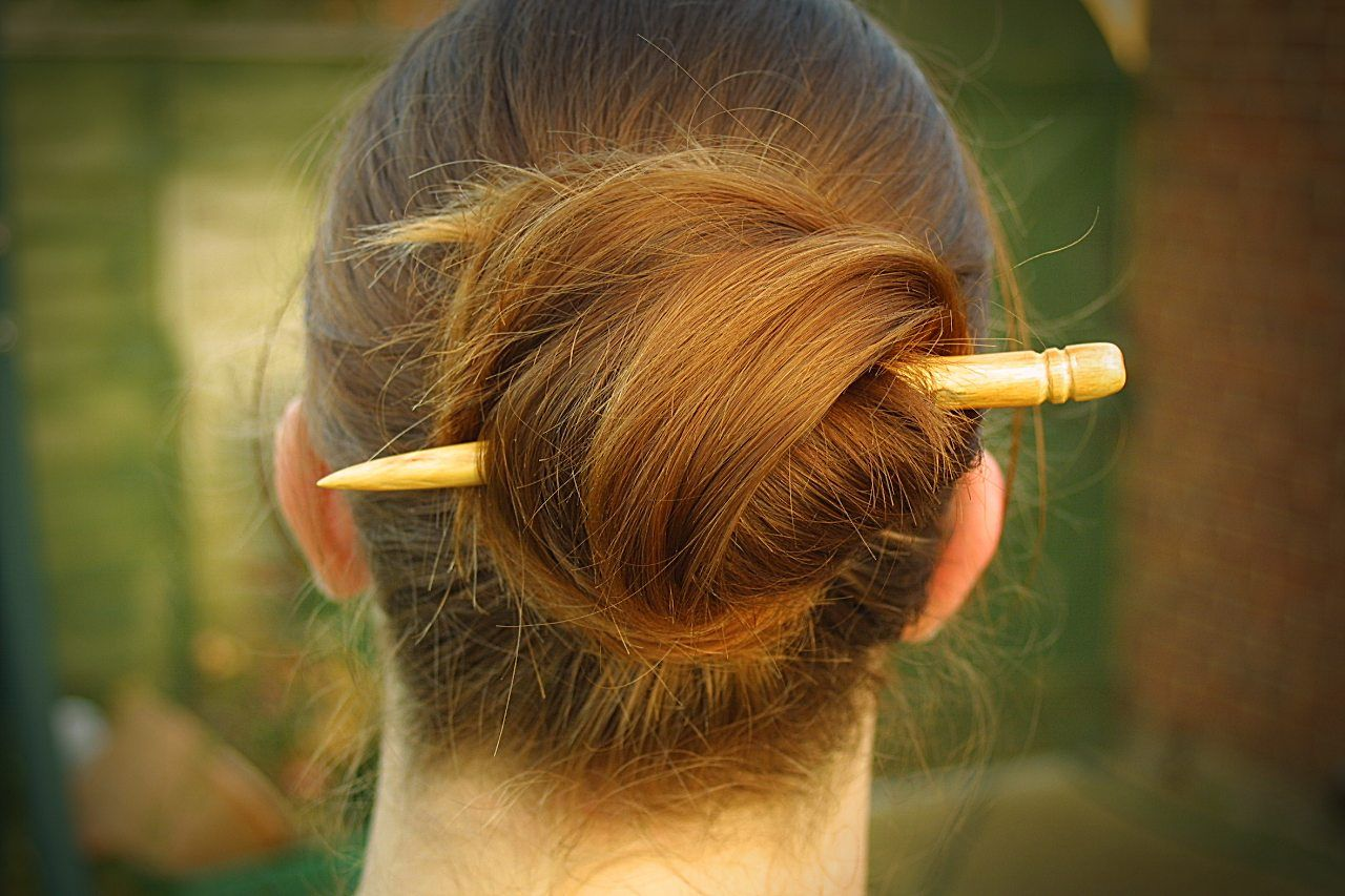 Carve A Hair Stick From A Twig Hair Styles And Hair Fashion