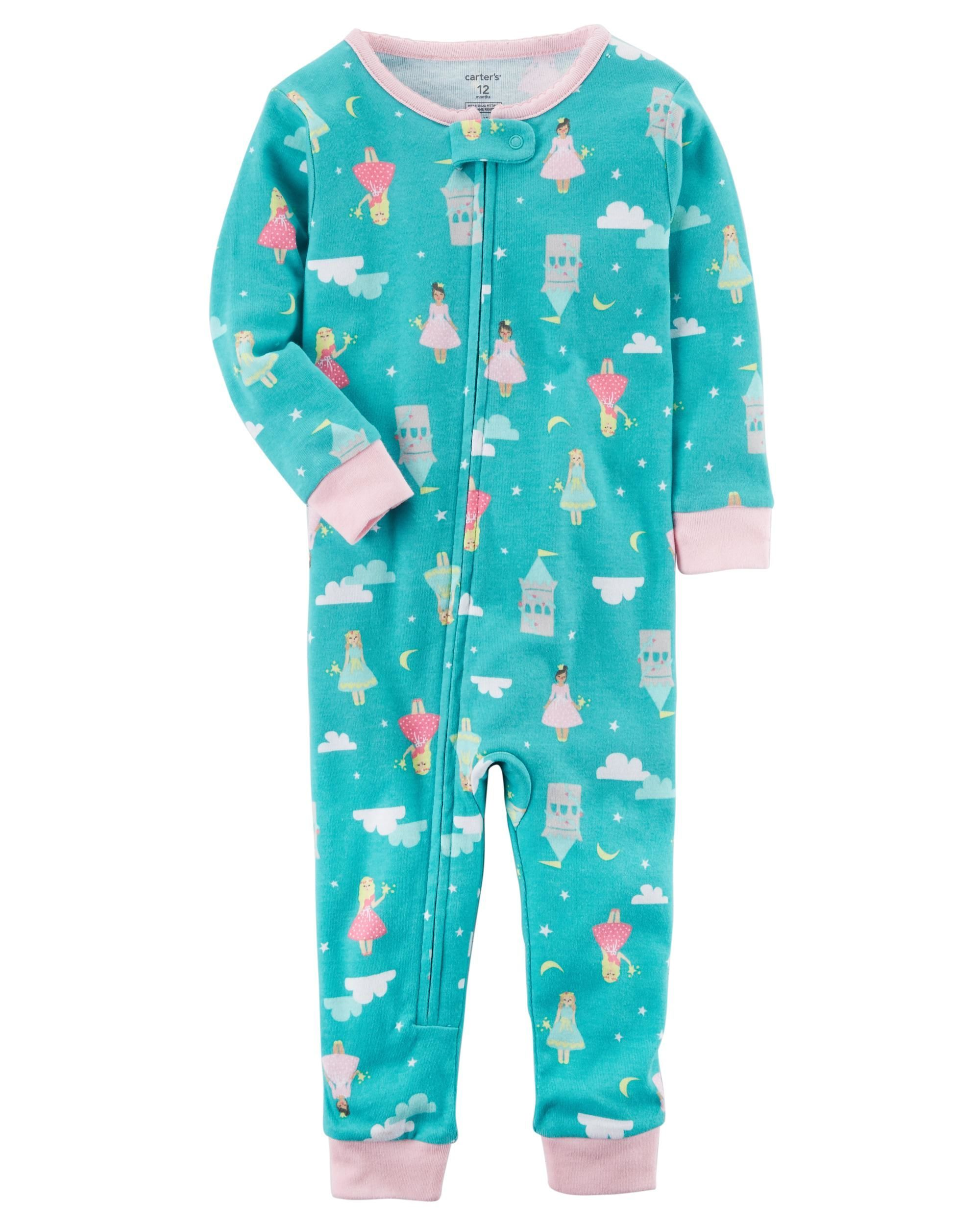 43c4fb543a8c 1-Piece Snug Fit Cotton Footless PJs