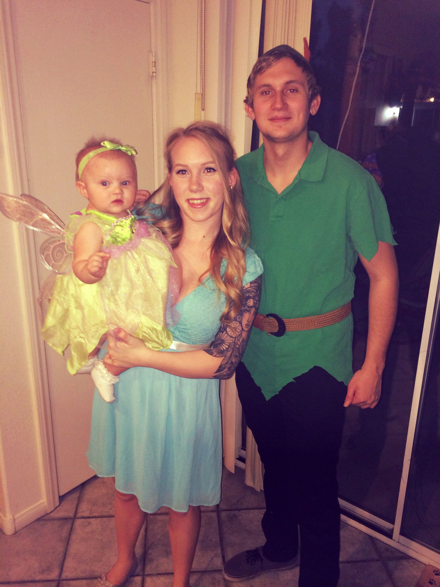 Cute Family Disney Halloween Costumes.Family Costume Peter Pan Tinkerbell Wendy Darling Diy We Are So