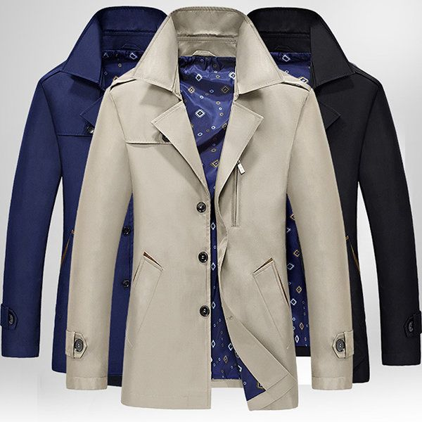 837b8966a6b7 $29.89 Casual Business Multi Pockets Solid Color Thin Single Breasted Jacket  for Men - Newchic