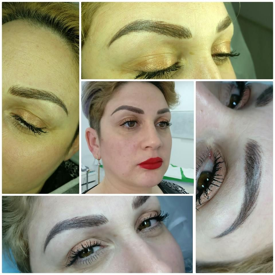 Permanent Make-up / Eyebrows before and after / Eyebrows ...