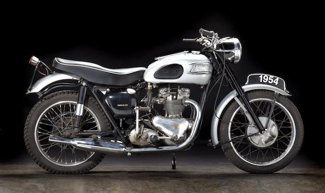From A Private Southeastern Collection 1954 Triumph T100 Tiger Frame No T100 49978 Engine No T100 49978 Triumph Bikes Classic Motorcycles Triumph T100