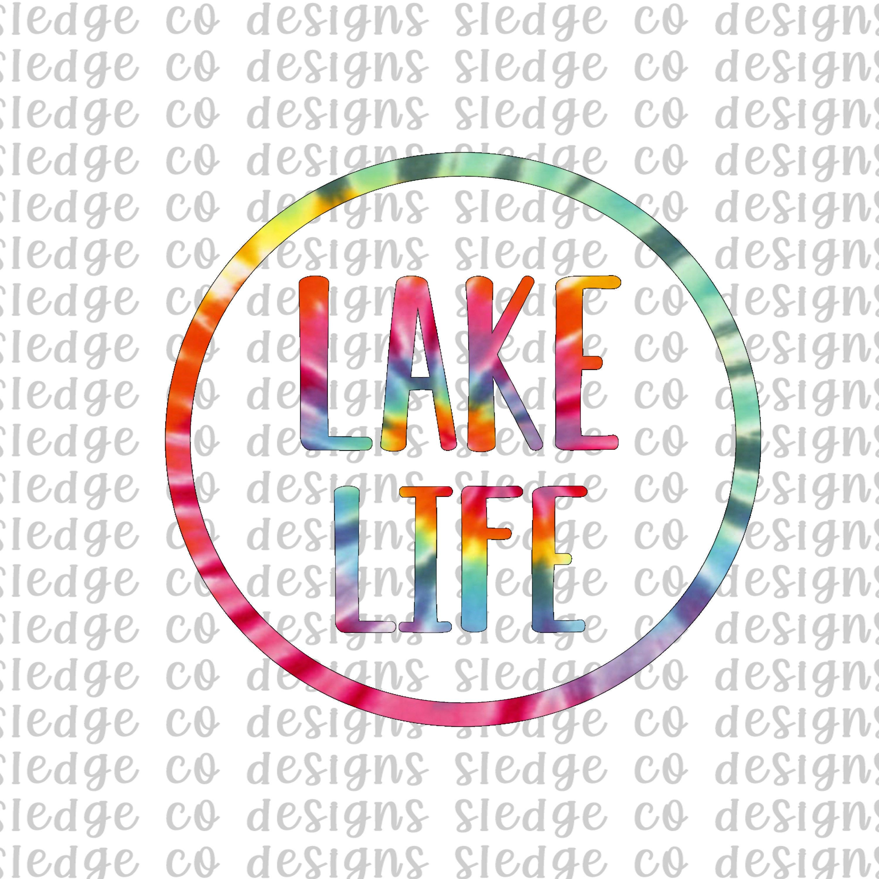 I/'d Rather Be At The Lake PNG Abstract Rainbow Lake Life PNG File for Sublimation Printing DTG Print Ready to Print Sublimation Download