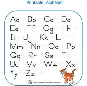 Nice Alphabet To Put In Homework Folder Huruf Belajar Tulisan
