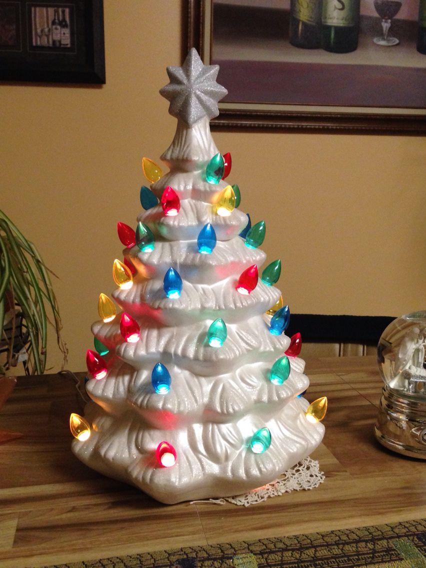 white ceramic christmas tree from cracker barrel ceramic christmas trees tree lighting white