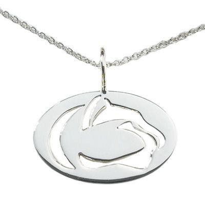 You'll always remember your fondest #PSUmemories with this #sterlingsilver cut-out #pennstate #nittanylion logo necklace
