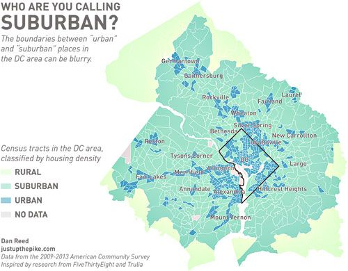 This Map Shows Which Parts Of The Dc Area Are Really Urban