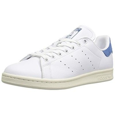 adidas Originals Women\u0027s Stan Smith w Fashion Sneaker, White/White/Core  Blue S