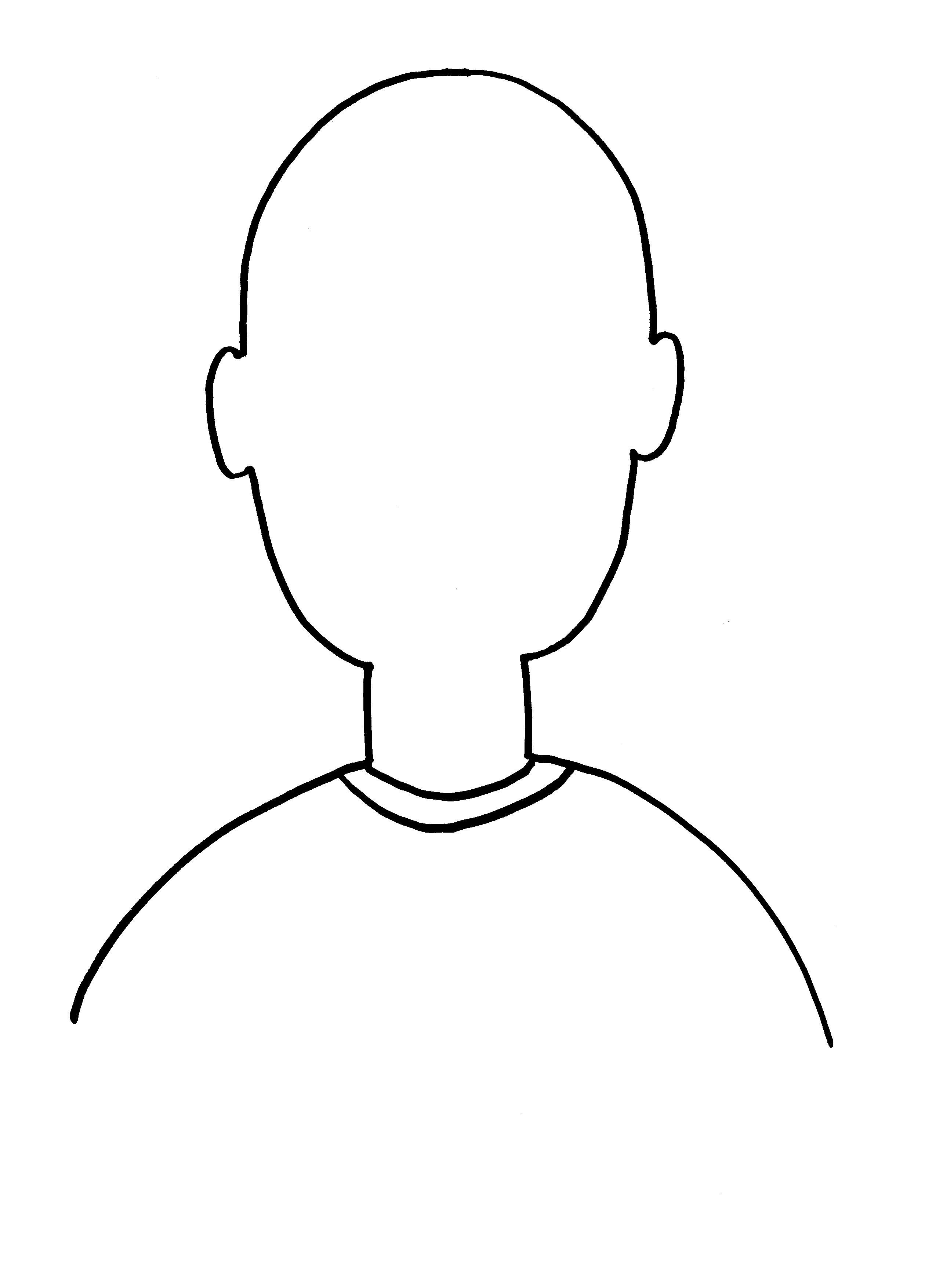 Free Blank Face Template Download Free Clip Art Free