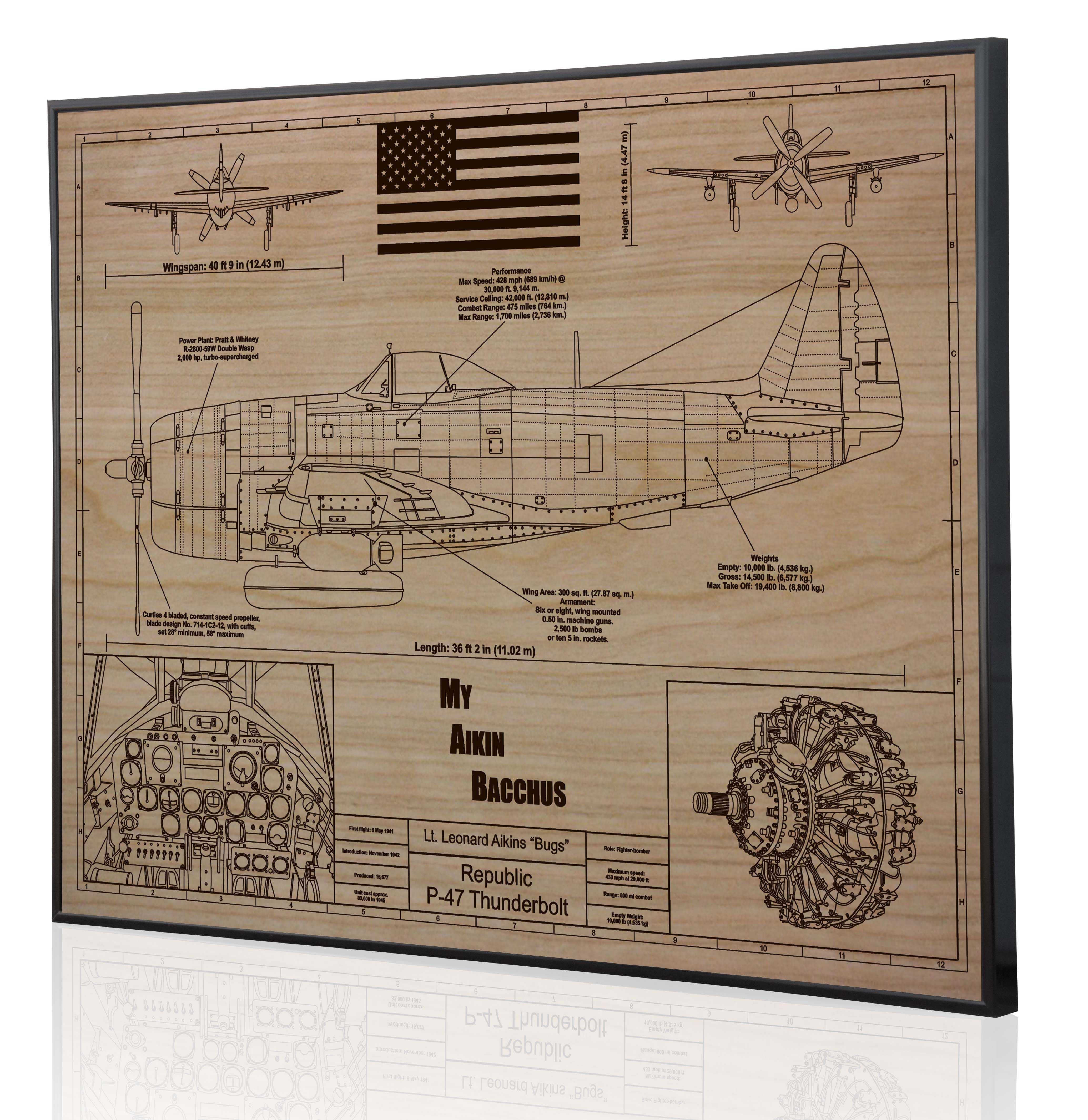 The final result of the p 47 laser engraved blueprint art we have the final result of the p 47 laser engraved blueprint art we have been working malvernweather Images