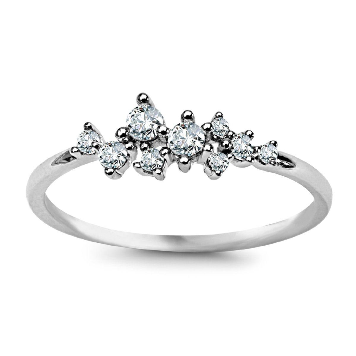 5f9684edfdfae9 69zł Scarlett - srebrny pierścionek z cyrkoniami (APOG105 - 29595 ...