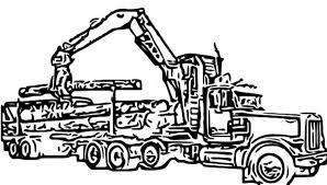 Log Skidder Clip Art Sketch Coloring