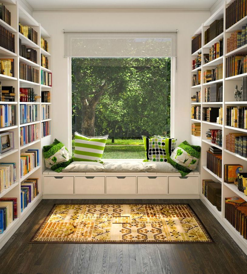 Create Reading Space Within Your Home Library