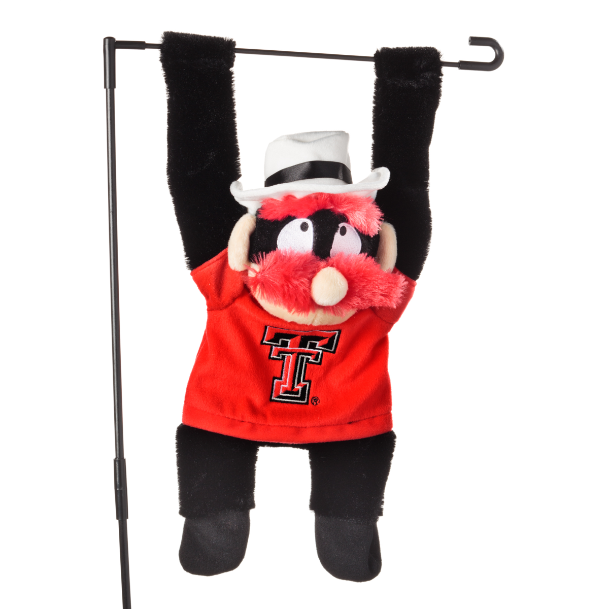 NCAA Texas Tech Red Raiders 3D Mascot Garden Flag