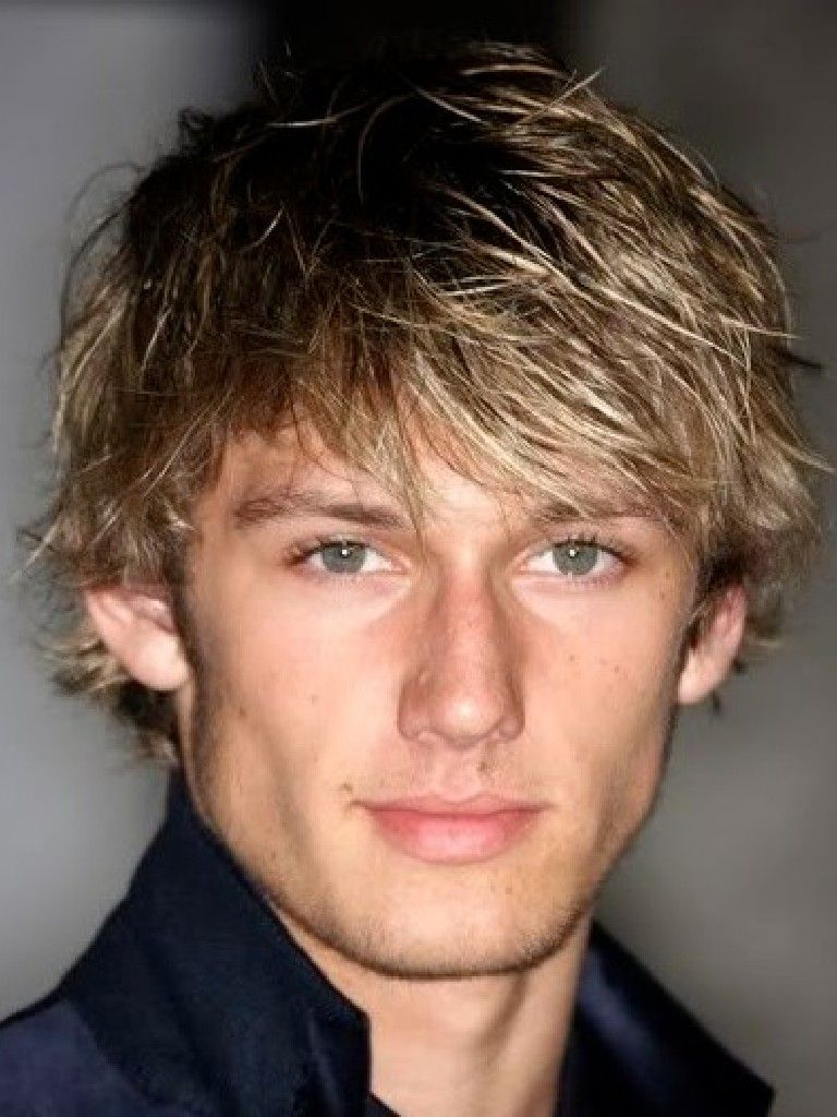 Guys Shaggy Layered Cut And Dark Blonde Color With Highlights That - Male hair styles
