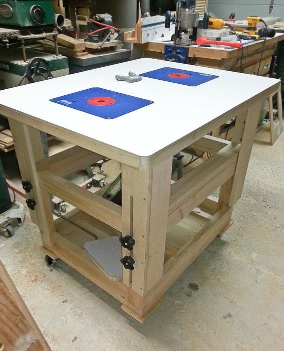 Adjustable Height Worktable Router Table And More By Mt Stringer