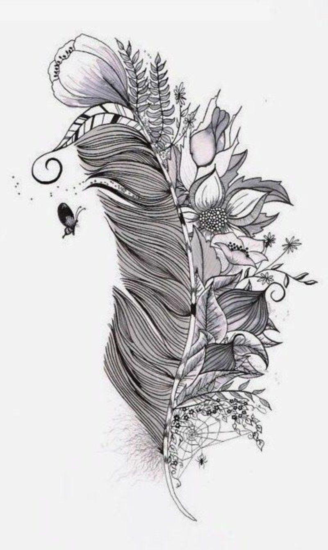 Feder Tattoo Bedeutung Und Vorlagen Tattoos 13