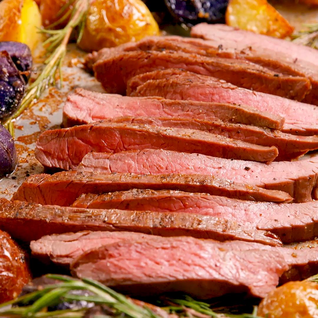 Photo of Sheet Pan Balsamic Steak