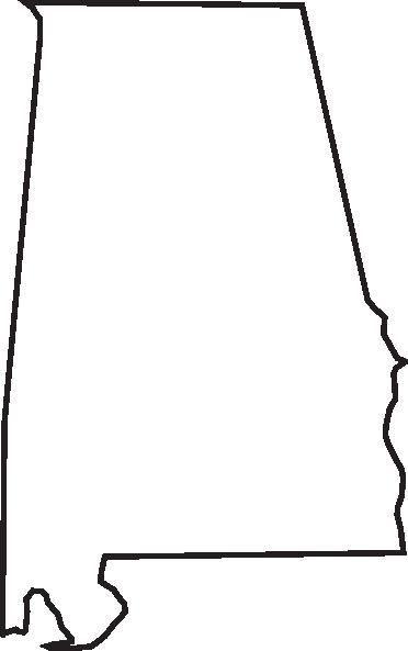 Font Alabama A For Silhouette Alabama Outline Clip Art Vector
