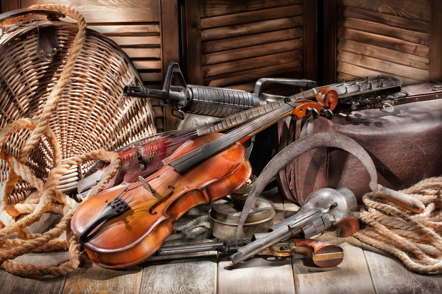 Machine Guna And Violin by Andrey Skat on 500px