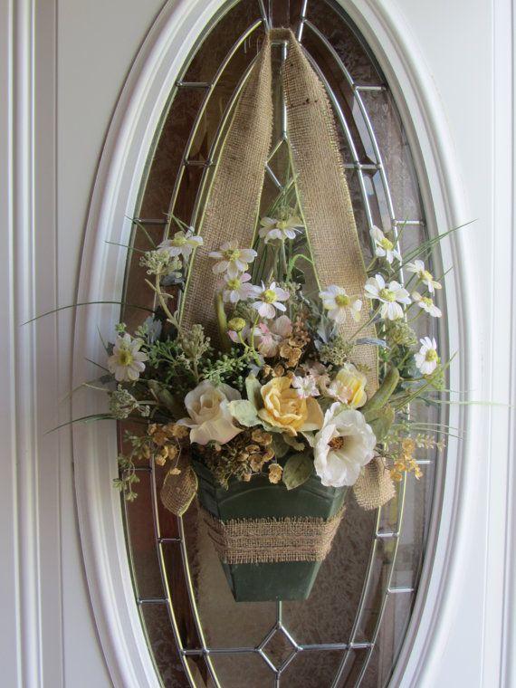 Front Door Wreath Summer Wreath Wall Pocket by DoorWreathsByDesign, $48.95