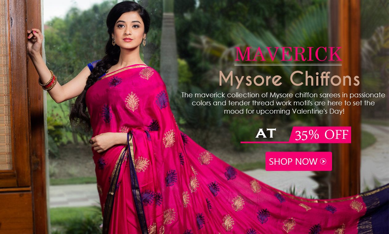 Off saree model images at  off mysorechiffonsarees are a steal  mysore chiffon
