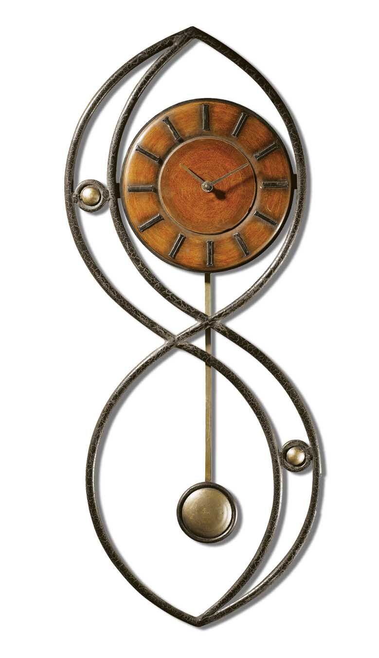 Imax bf carey table lamp hautelook - Balboa Clock This Wrought Iron Clock Frame Features A Black Crackle Finish With A