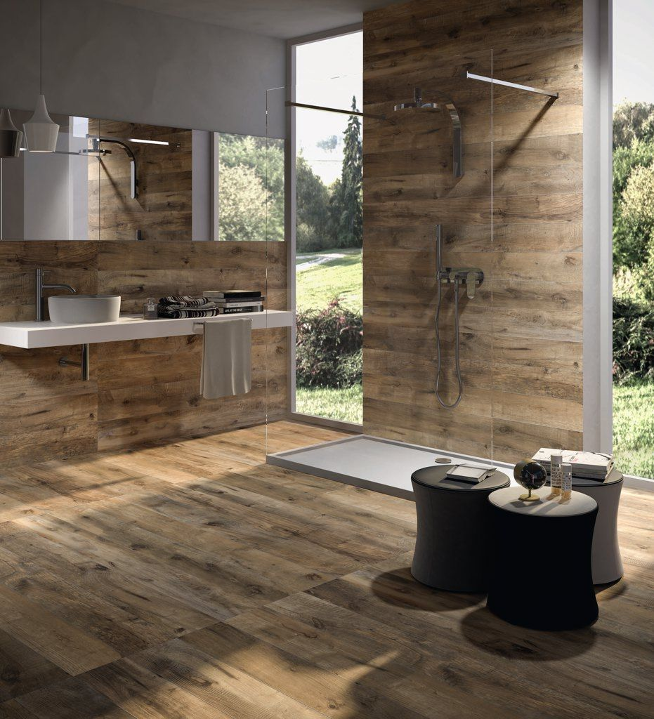 Badezimmer Holzoptik Fliesen | Dakota Fliesen In Holzoptik Badezimmer Wohnbereich Stilbilder 1