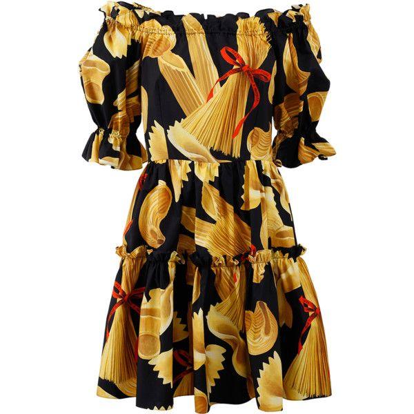 Dolce & Gabbana Poplin Pasta Dress ($1,595) ❤ liked on Polyvore featuring  dresses,