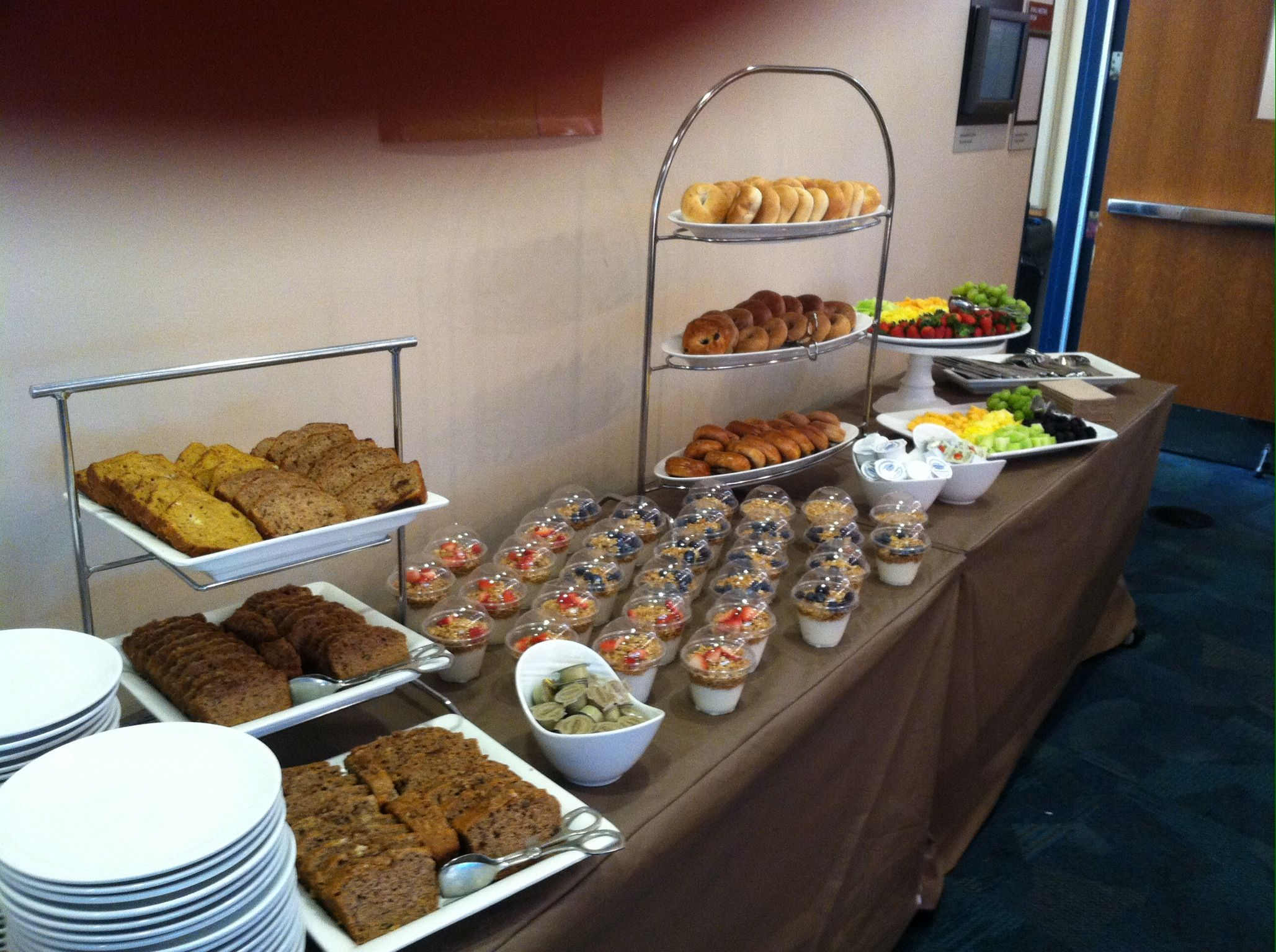 Continental breakfast wedding catering indianapolis