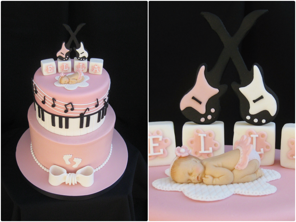 Music Baby Shower Cake