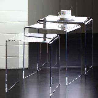 Acrylic Nesting End Tables (Set Of 3) | Overstock.com Shopping   The Part 93