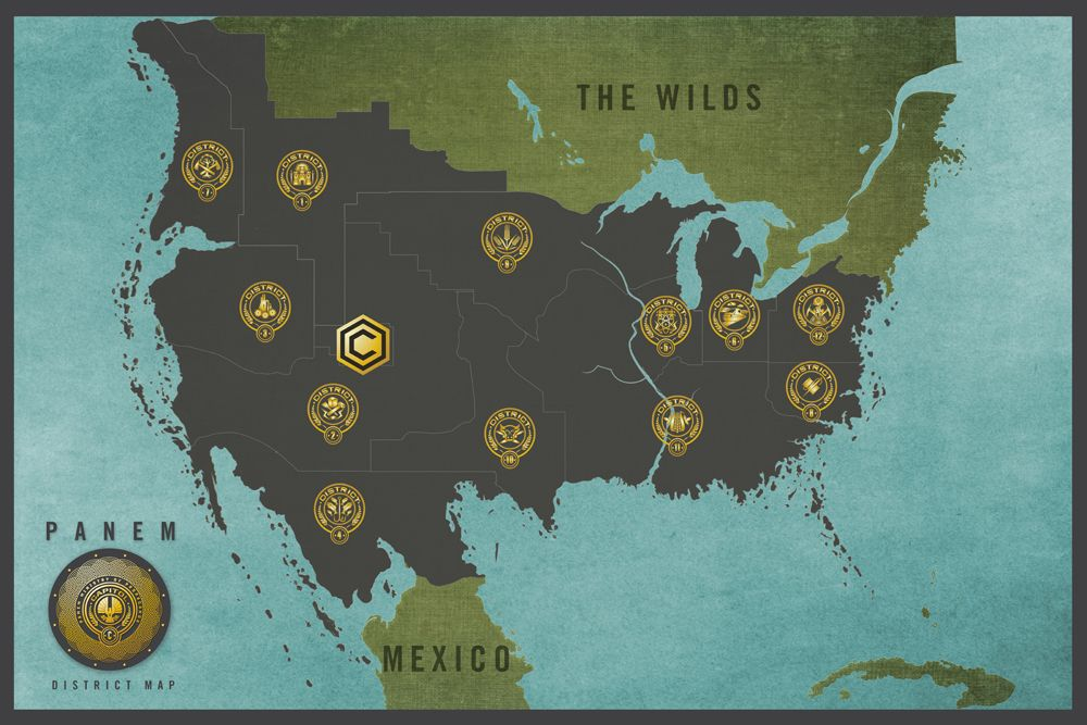 Hunger Games Panem District Map | The Map/Infographic Wall ...