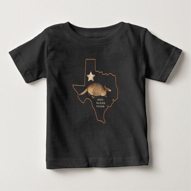 Texas Lone Star State Armadillo Memorabilia Baby T-Shirt | Zazzle.com