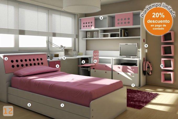 Mueble c digo b04 74 dormitorio muebles juveniles for Muebles dormitorio nina