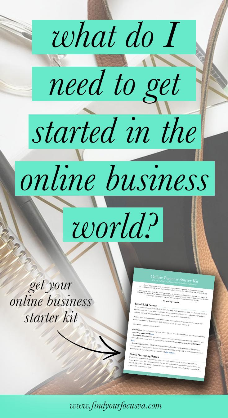 Online Business Starter Kit Online Business Plan Online