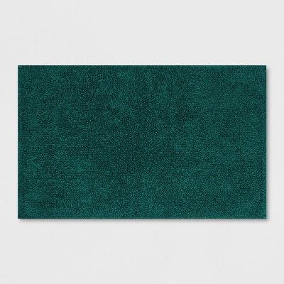 Soft Solid Bath Mat Dark Green Opalhouse With Images Green