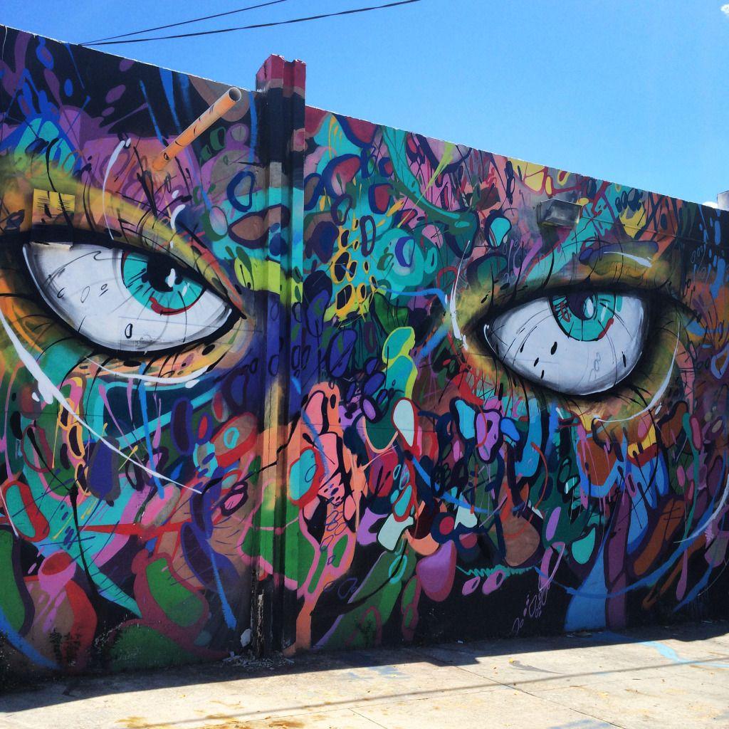 Wynwood Walls Miami - Artist: Abstrk | Miami | Pinterest