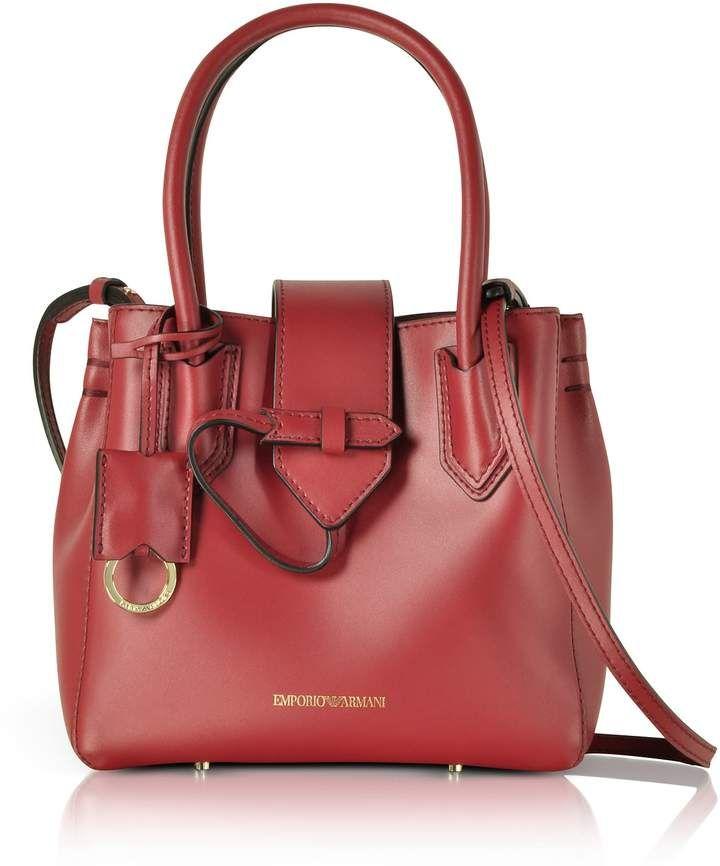 51dfb6bbaa68 Emporio Armani Genuine Leather Satchel Bag