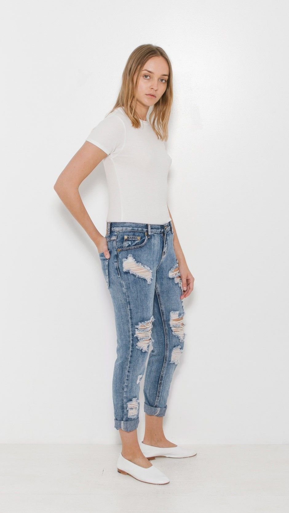 One Teaspoon Awesome Baggies Boyfriend Jeans in Cobain | The Dreslyn