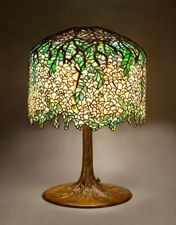 Louis comfort tiffany wisteria table lamp before or in 1901 louis comfort tiffany wisteria table lamp before or in 1901 stained glass 18 inch shade and 27 inch base tiffany studios the holtzman collect aloadofball Choice Image