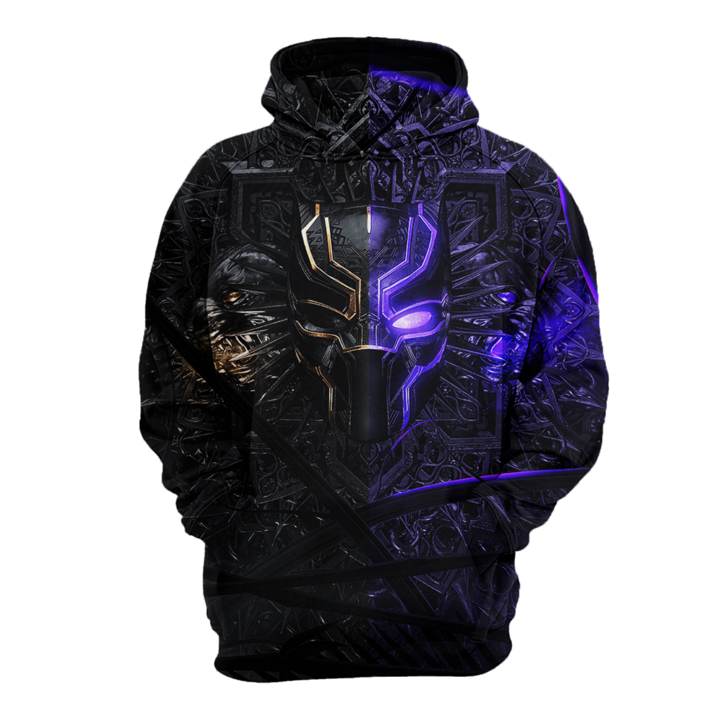 2bbff8150dc 3D Black Panther hoodie T-shirt 13