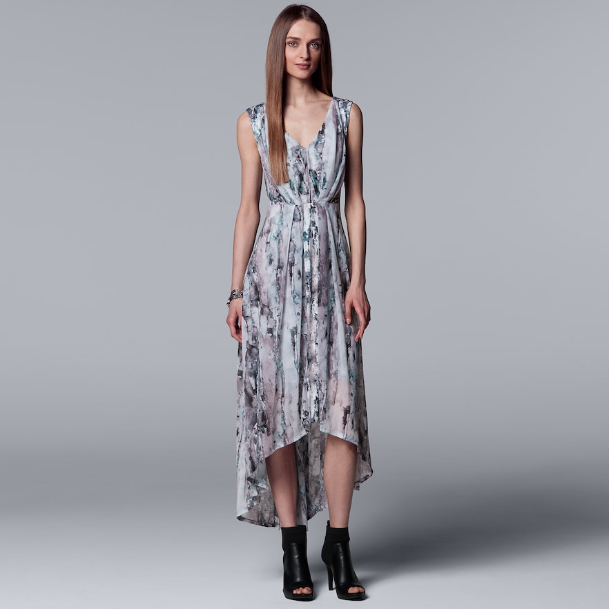 Women's Simply Vera Vera Wang Pleated HighLow Maxi Dress